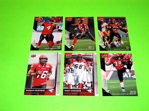 6-CALGARY-STAMPEDERS-UPPER-DECK-CFL-FOOTBALL-CARDS-12-13-14-49-121-110-1
