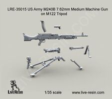 Live Resin 35015 1/35 US Army M240B 7.62mm Medium Machine Gun on M122 Tripod