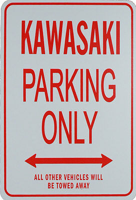 KAWASAKI - PARKING ONLY SIGN