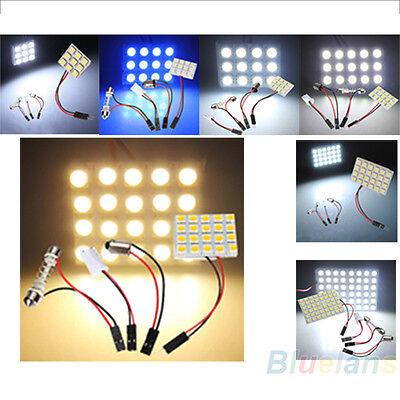 9/12/15/20/24/48 LEDS 5050 SMD Car LED Light Panel T10 Festoon BA9S Adapter BA2A
