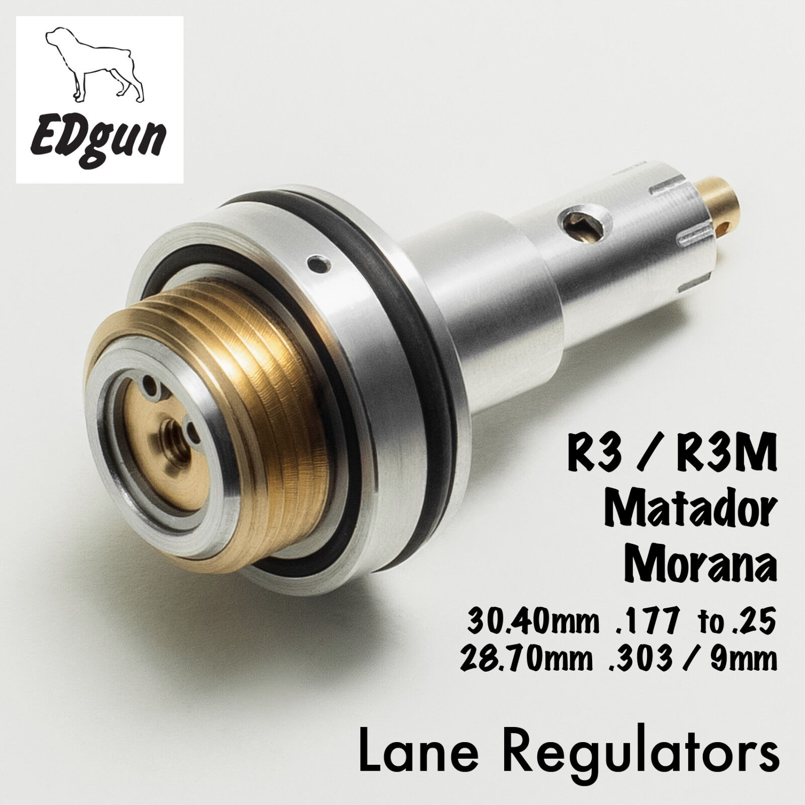Regulador de rifle de aire edgun - 'Lane MK9 Lancet' - By Lane reguladores hecha en el.
