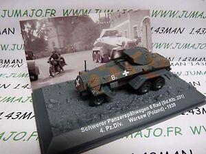 PZ33U Tank militaire 1//72 PANZER n°33 Schwerer 6 Rad SdKfz 231 4 div Pologne 39
