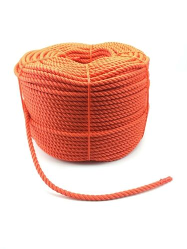 100 Metres x 16mm Orange Polyethylene Rope Cord Floating Safety Life Line Buoy