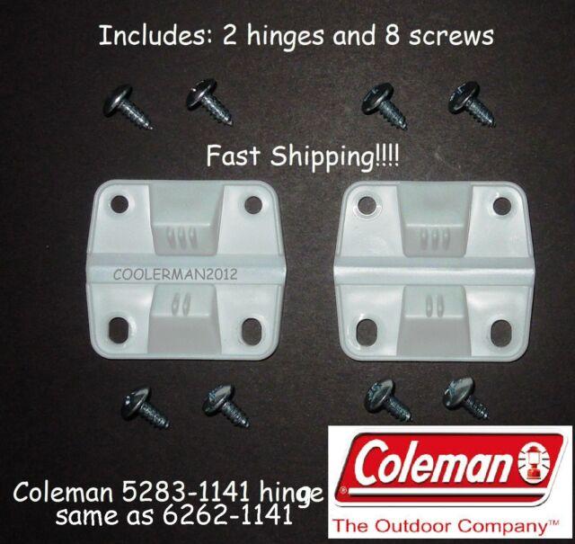 3762900c8db Coleman Plastic Cooler 2 hinges 8 screws 5283-1141 Ice Chest Hinge  Replacement