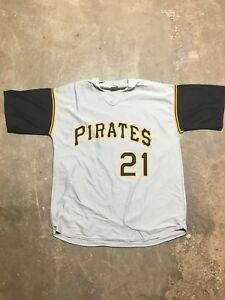 premium selection 6eb7e 8491b Details about Roberto Clemente Jersey Pittsburgh Pirates Brand New XL