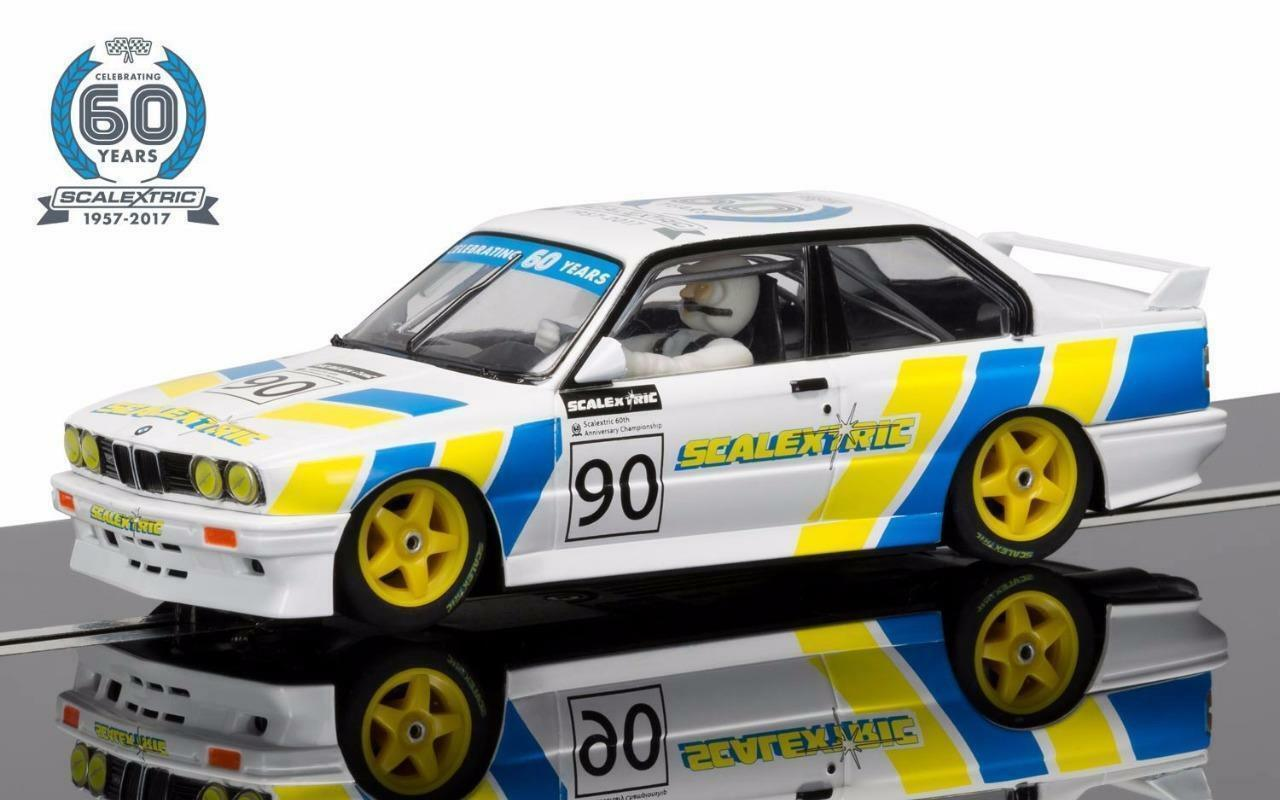 SCALEXTRIC C3829A 60th Anniversary Collection -1990s, BMW E30 M3 Limited Edition