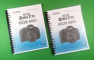 Details about LASER 8 5X11 Canon EOS 600D Rebel T3i Camera 324 Page Owners  Manual Guide