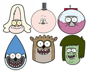 regular show variety card party face masks 6 pack mordecai rigby