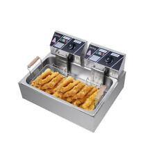 5000w 127 Qt Electric Deep Fryer Large Tank Frying Cooking Machine Commercial
