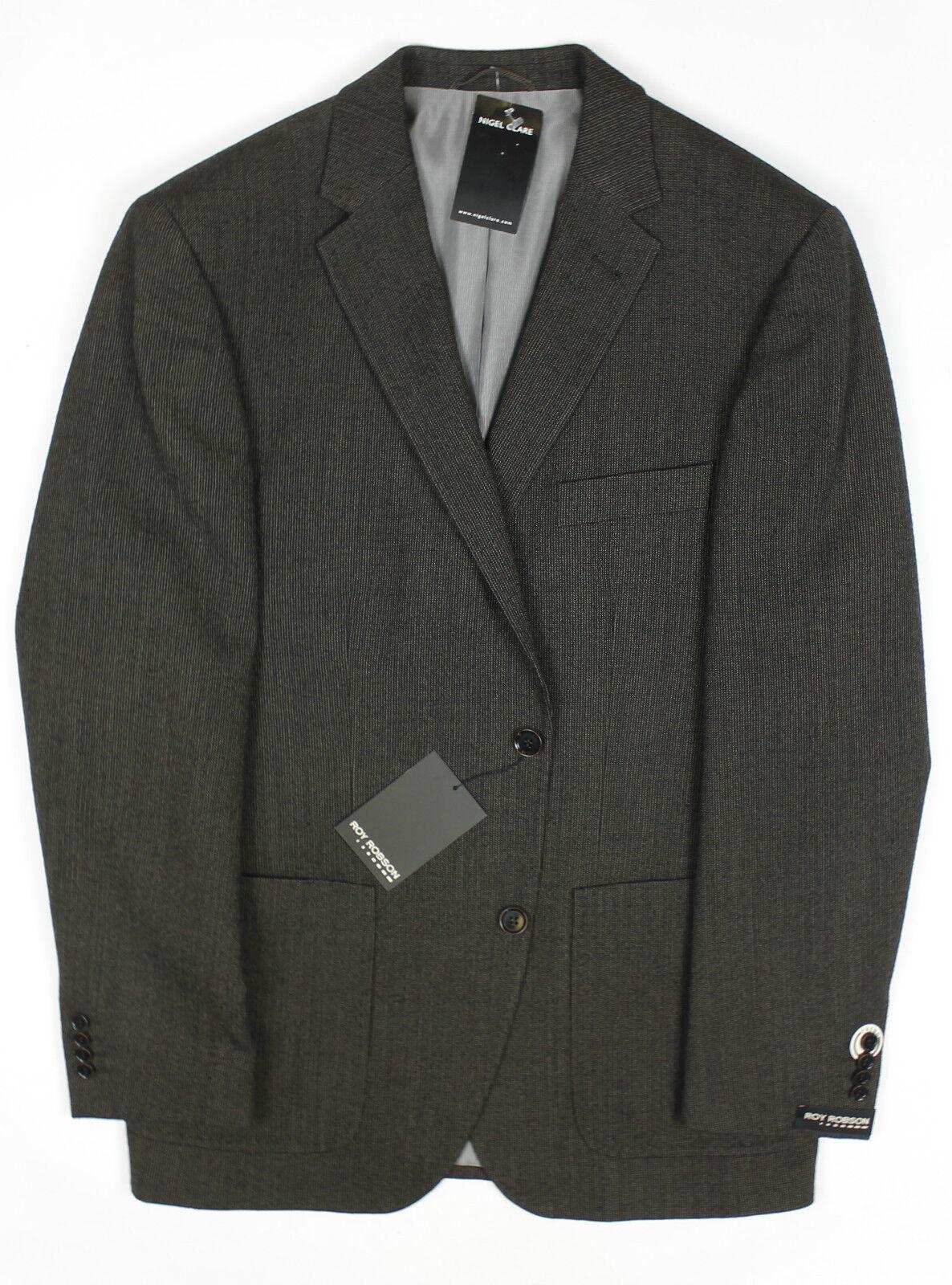 Roy Robson - Braun Pure New Wool Blazer - Größe 40 - NEW WITH TAGS