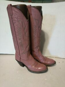 Nocona-Ladies-Boots-Size-6-5B-Stile-6920B-Dusty-Rose-Buffalo-Calf