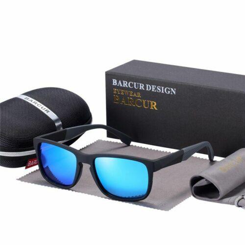 Unisex Sport Sunglasses Men Women Eyewear Polarized Gradient Blu Black Lens