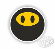 Balaclava Face Yellow Happy Car Van Sticker Stickers Decal Funny Sticker