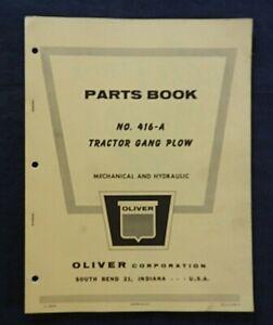 "1950's OLIVER ""No. 416 A Series TRACTOR GANG PLOW"" PARTS CATALOG MANUAL"