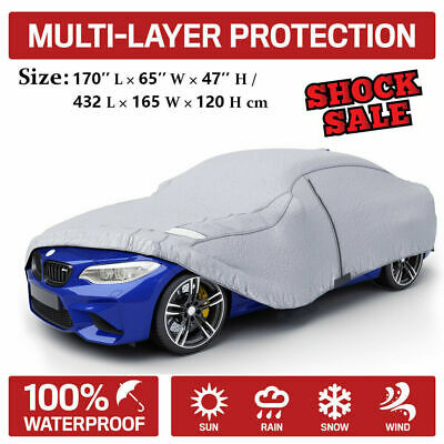 Cars Length Up to 165 7-Year Warranty All-Weather Car Cover 100/% Waterpoof//100/% Snowproof//100/% UV /& Heat Protection//100/% Dustproof//100/% Scratchproof Indoor Outdoor