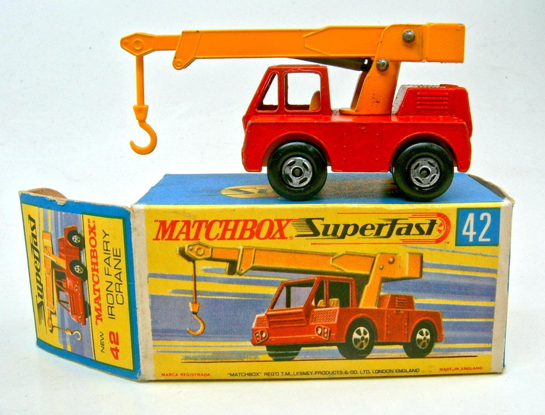 Matchbox Nr.42A Iron Fairy Crane rot & gelb RW Farbe mit SF Räder