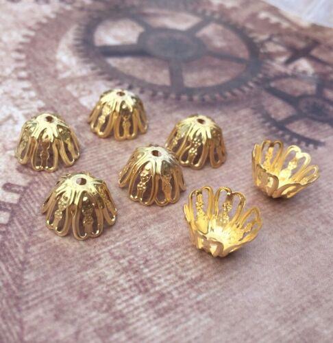 Paquete De 100 Tapas De Filigrana De Hierro 6 pétalos cordón del grano finaliza hallazgos