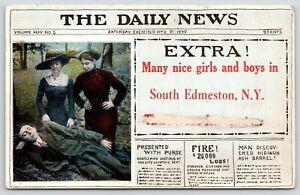 034-Nice-Girls-amp-Boys-034-in-South-Edmeston-New-York-Extra-Newspaper-Guy-Asleep-1915
