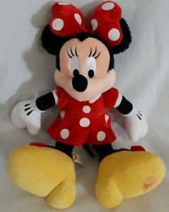 Disney-Store-Minnie-Mouse-19-034-Plush-Stuffed-Animal-Red-Polka-Dot-Dress