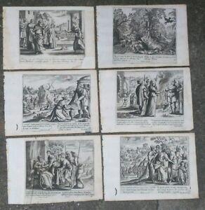 1690-GERARD-JOLLAIN-LOTTO-6-INCISIONI-CON-BELISSIME-SCENE-BIBLICHE-E-SANTI