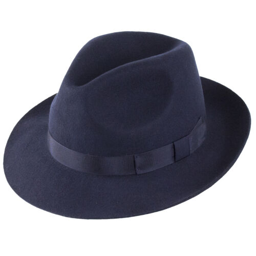 Navy Christys/' London Hats Chepstow Trilby