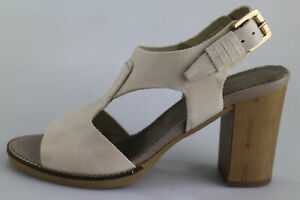 best loved ea4d5 4a750 Dettagli su scarpe donna OROSCURO EU 35 sandali beige pelle DX625