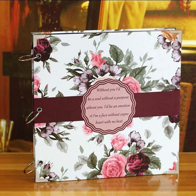 """Roses Lover"" Photo Picture Album Ring Binder DIY Wedding Album Memory Book"