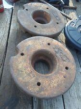 Vintage Massey Harris Tractor Wheel Weights Set Pair Part Number Jb 40 Used