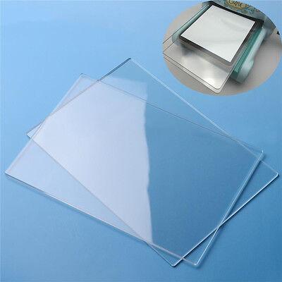 2pcs 155mm*225mm*3mm Generic Acrylic Transparent Cutting Plates For Big Shot