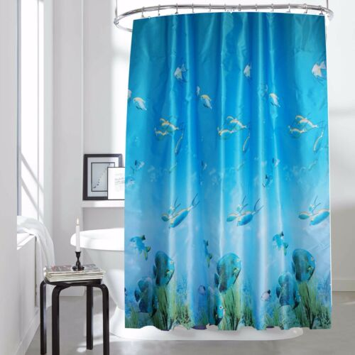 Shower Curtain Surface Coated 100/% Polyester Fabric Waterproof Anti-Mildew