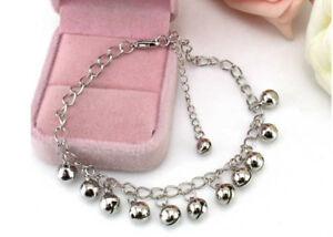 Silver-Plated-Jingle-Bell-Chain-Foot-Ankle-Bracelet-Anklet-Chain-UK