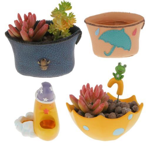 HOT Resin Flower Pot Vase Succulent Plant Container Herb Planter Garden Decor