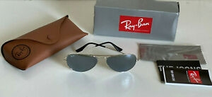NEW-RB3025-LARGE-CLASSIC-AVIATOR-GRAY-SILVER-MIRRORED-SUNGLASSES-SHADES-SALE