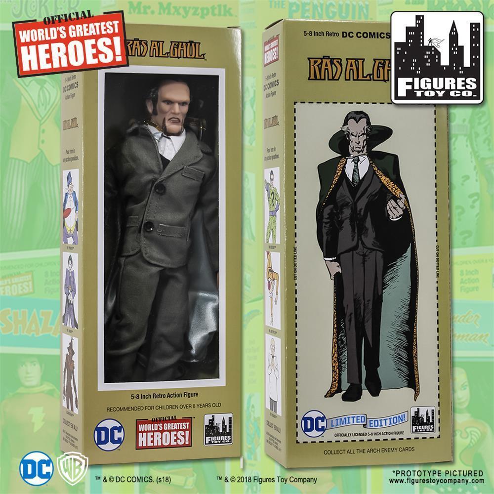 DC Comics Retro Ra 's al Ghul 8 pulgadas figura de acción con caja de estilo retro clásico