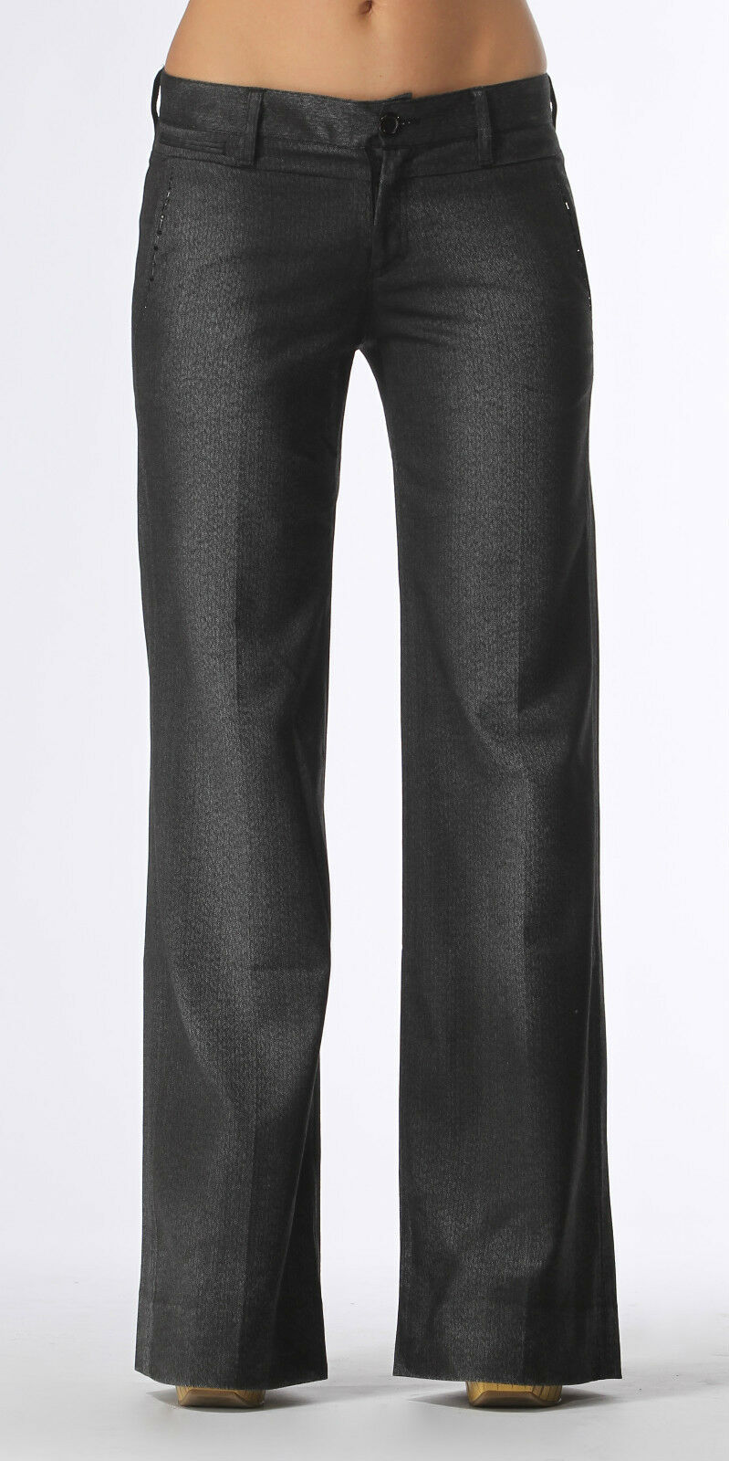 Beaded Grey Wide Leg Pants 24 28 29 30 31 NWT