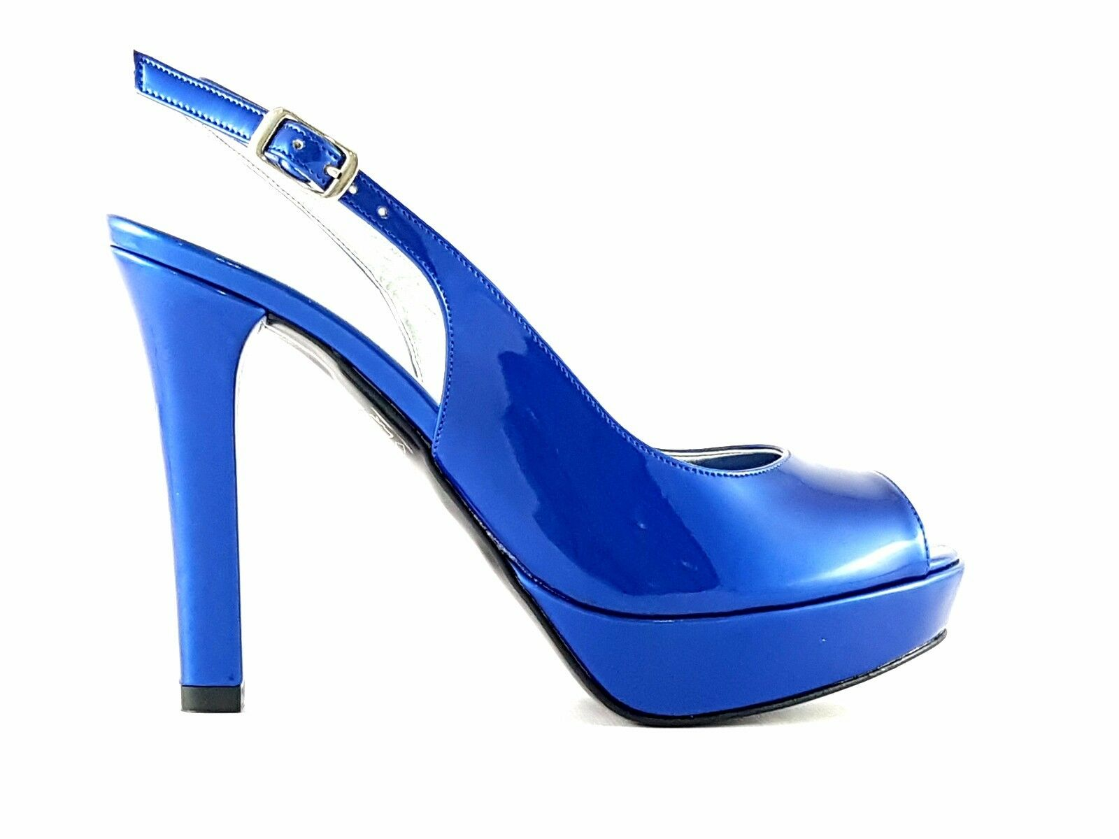 Descuento por tiempo limitado JOEL  A94  sandalo donna - vernice col.: blu, acqua marina - made in Italy