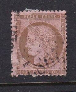 France-stamp-60-used-1875-some-paper-on-back-SCV-11-00