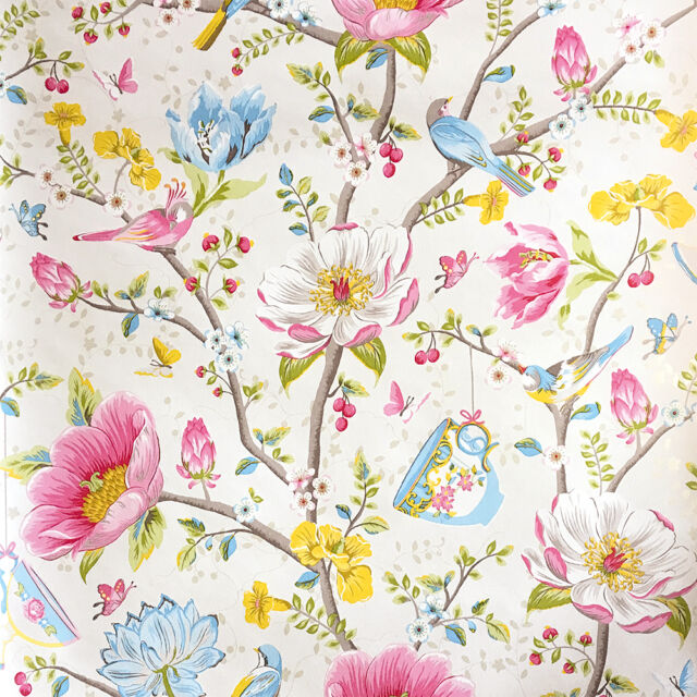 Vlies Tapete Eijffinger Pip Wallpaper 341000 Blumen Muster ...