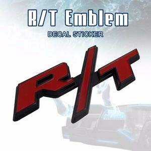 3d metal red rt logo rt emblem rear trunk tail badge car sticker image is loading 3d metal red r t logo rt emblem rear publicscrutiny Choice Image