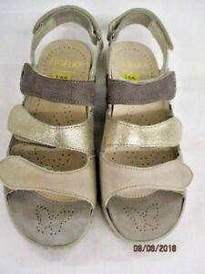 Fidelio  GINI G Komfort Leder Sandale 445004 82 Fango Mix (beige) Weite G