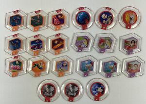 Disney Infinity 1.0 & 2.0 Power Disc Lot of 21 Assorted Discs