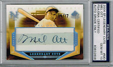 2004 UPPER DECK SP LEGENDARY CUTS MEL OTT AUTO AUTOGRAPH #d 14/17 - HALL OF FAME