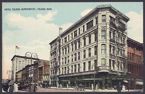 Cartolina-Ohio-Hotel-Toledo-Superiore-Street-Ohio-un-Buono-Street-Vista