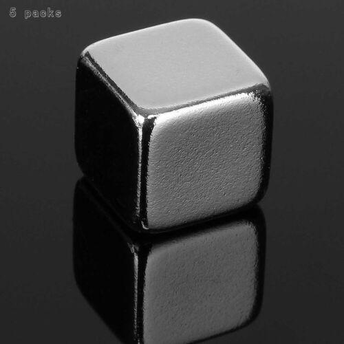 5 Pcs 10x10x10mm N50 Rare Earth Block Cubic Square Super Strong Neodymium Magnet