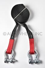 """2"""" 8,000lbs Tow Strap 20 ft w Bow Shackle winch sling offroad ATV UTV free ship"""