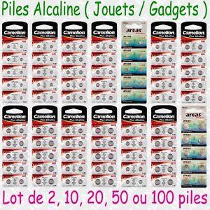 Piles boutons Alcaline 1,5V Camelion 357 362 364 371 377 379 386 389 391 ... 396