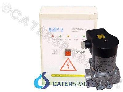 "Strom Sensor Kommerzieller Gassperre Set & 1 "" 1/4 Gas Magnetventil 35mm"