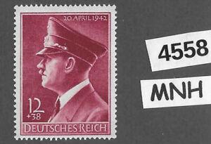 MNH stamp Sc B203 / Adolph Hitler / 1942 Birthday / WWII Germany / Third Reich