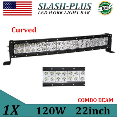 Curved 22inch 120W COMBO LED Light Bar Off-road Driving Lamp SUV Boat 4WD Truck