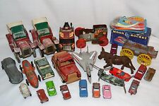 Vintage Toys Lot For Parts or Repair Junk Drawer Wind-Up Buddy L Cast Iron Cars